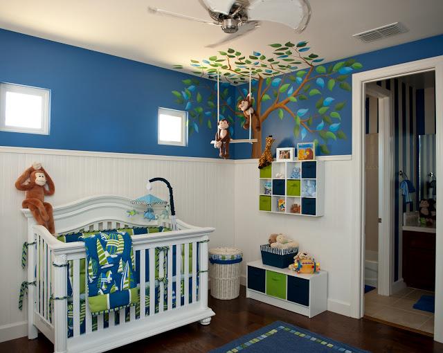 Kinderzimmer Braun Grün Schön On Mit Modern Junge Wandgestaltung Grn ZiaKia Com 9