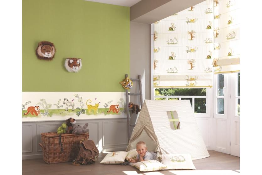 Kinderzimmer Braun Grün Stilvoll On Innerhalb Casadeco Alice Paul Kindertapete Dschungeltiere 1