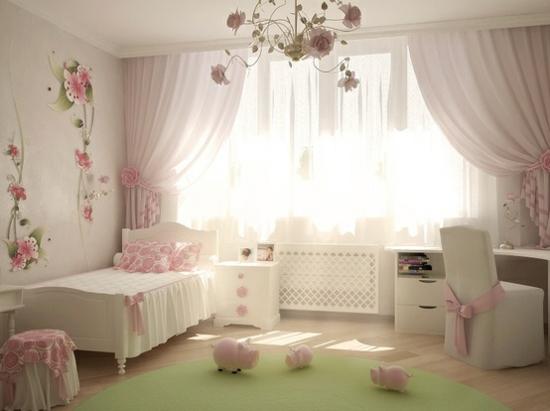 Kinderzimmer In Beige Rosa Bemerkenswert On Auf Wandfarbe Für Grün Und Kombinieren 7