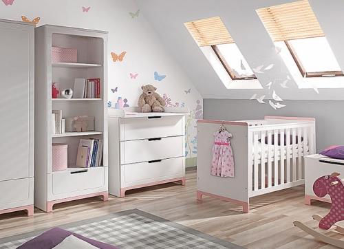 Kinderzimmer In Beige Rosa Bemerkenswert On Bezug Auf Einrichten Amocasio Com 5