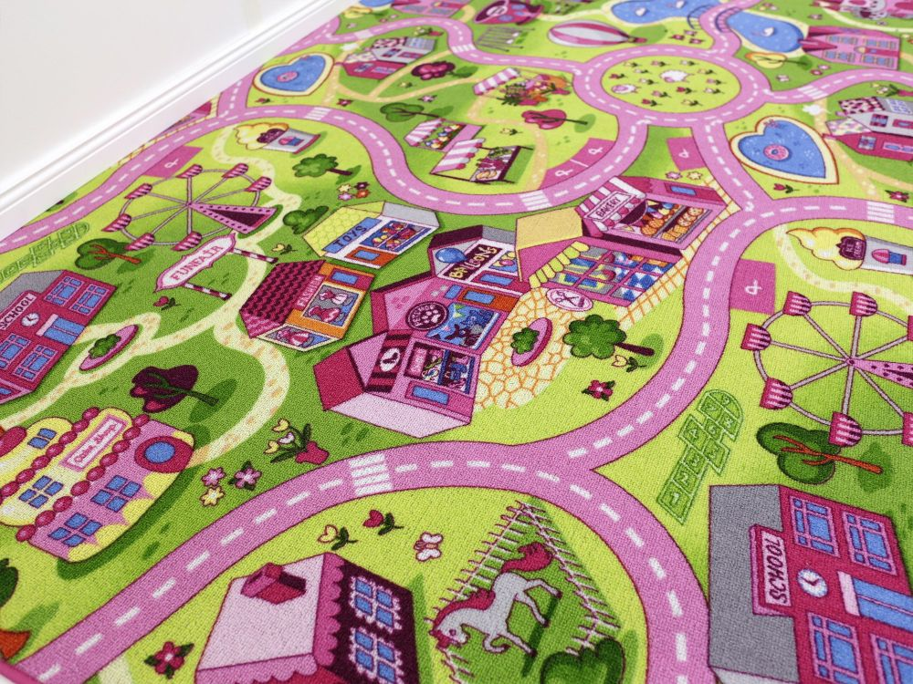 Kinderzimmer Teppichboden Frisch On Andere Und Sweet Town HEVO Kindermotiv 400cm Breite 2