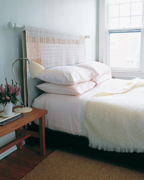 Kopfteil Bett Ideen Schön On Innerhalb Für DIY Auf Eine Gardinenstange Die Tagesdecke 3