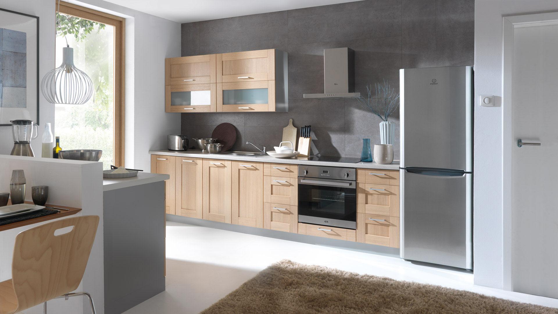 Küche Aus Eiche Modern Erstaunlich On Auf Frontfarbe Plate Echtholz Massivholz 2