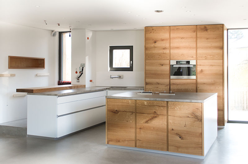 Küche Aus Eiche Modern Erstaunlich On In Bezug Auf Design Konstruktion Küchen Holz Mit 1