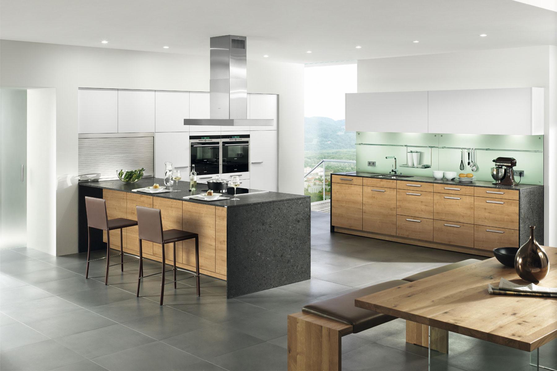Küche Aus Eiche Modern Schön On Und Kche Modell Schöne In 9