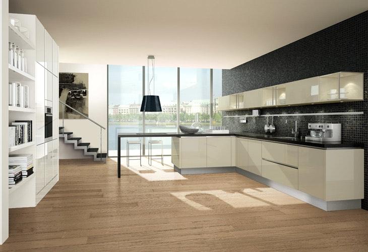 Küche Creme Modern Großartig On Und Mit In Eckküche Www Dyk360 Kuechen De Küchen 6 8