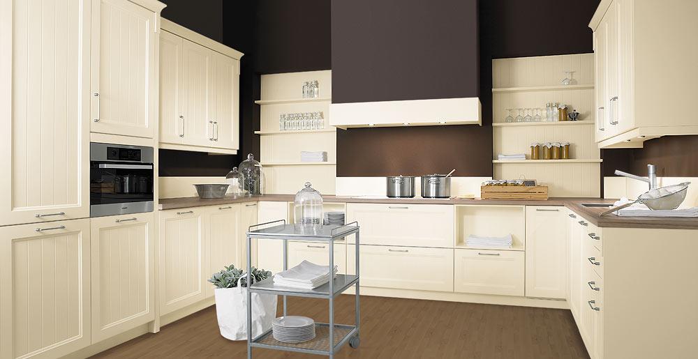 Küche Creme Modern Stilvoll On In Schröder Küchen Ohne Griffe Castle Oxford 3