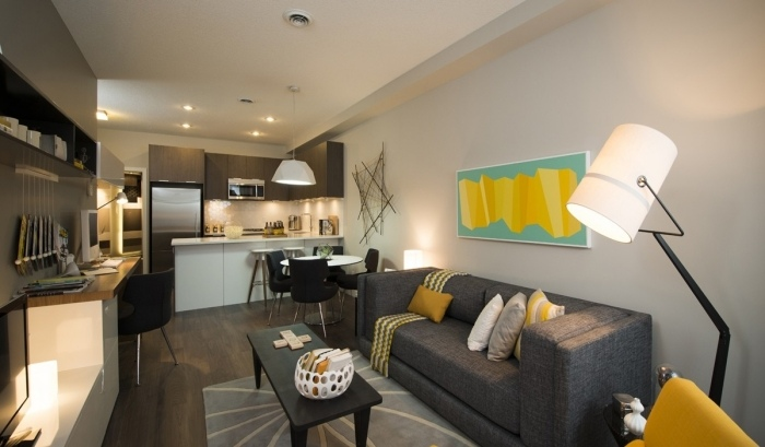 Küche Und Wohnzimmer In Einem Raum Modern Herrlich On Kuche Www Sieuthigoi Com 7