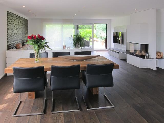 Küche Und Wohnzimmer In Einem Raum Modern On Für Blick Aus Der Den Wohnraum Köln 8