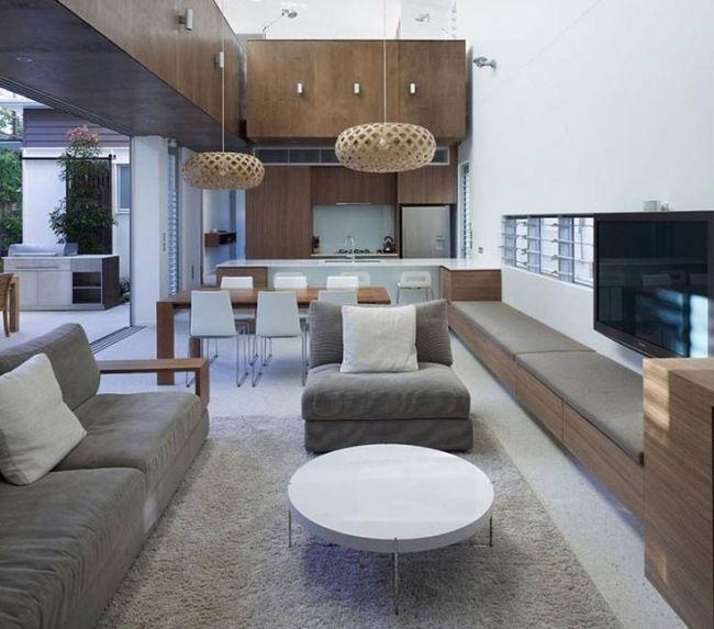 Küche Und Wohnzimmer In Einem Raum Modern On Mit Kuche Www Sieuthigoi Com 5