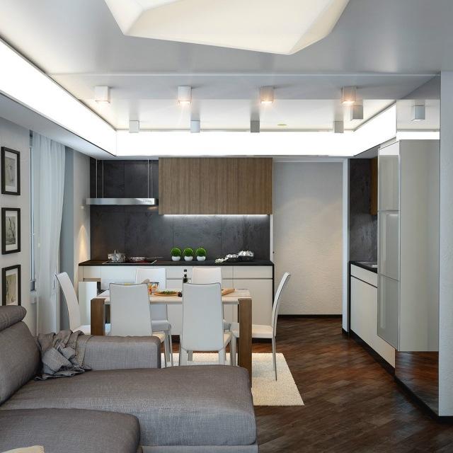Küche Und Wohnzimmer In Einem Raum Modern Perfekt On Innerhalb Kuche Www Sieuthigoi Com 1