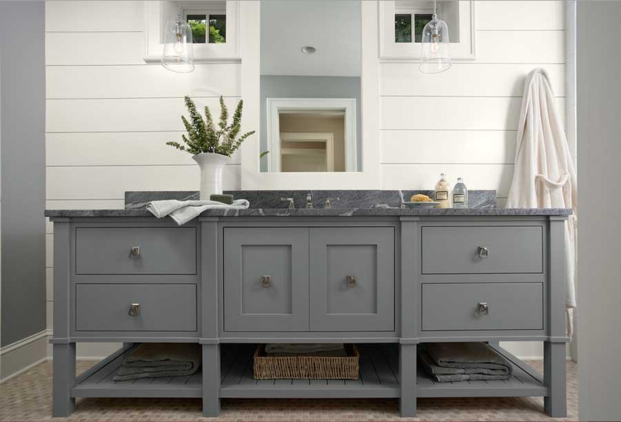 Landhaus Badezimmermöbel Ausgezeichnet On Badezimmer Innerhalb Groß Grau Mit Granit Platte Ahseattle 6
