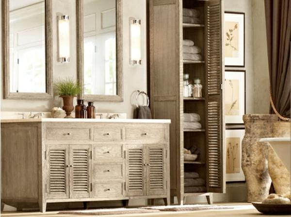 Landhaus Badezimmermöbel Bemerkenswert On Badezimmer In Bezug Auf Holz Rheumri Com 4