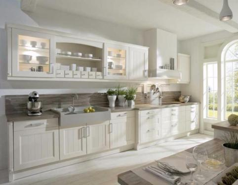 Landhausküche Weiß Exquisit On Andere In Weiss Eiche Lackiert Auf Maß Gefertigt 1