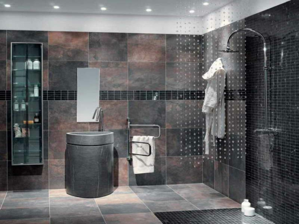 Luxus Badezimmer Grau Unglaublich On überall Bad Fliesen Ideen Bilder Wohndesign 4