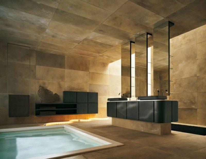 Luxus Badezimmer Herrlich On Für Fliesen Moderne Imitieren Auf Modern 9