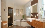Luxus Badezimmer Weiß Mit Sauna