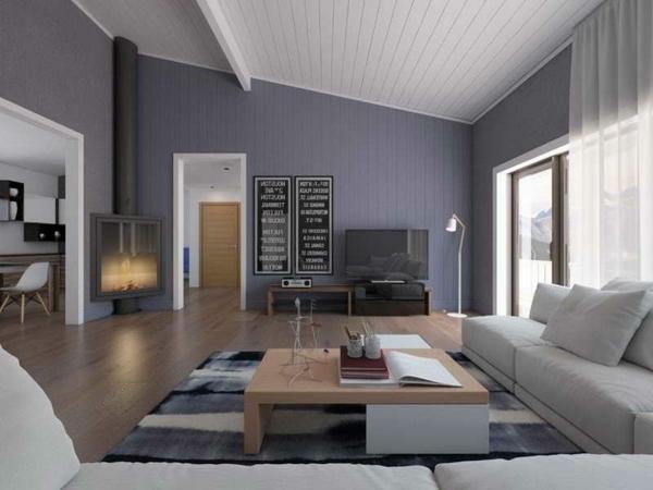 Modern Wohnzimmer Bescheiden On In Bezug Auf Wandfarbe Lustlos Moderne Deko Idee Auch 17 8