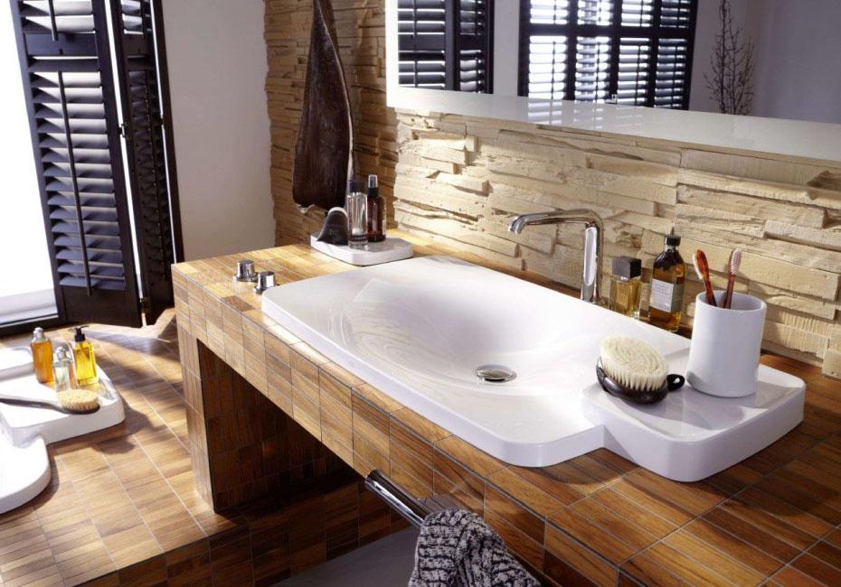 Moderne Bäder Mit Holz Imposing On Modern Beabsichtigt Mosaik Fliesen Badezimmer Ideen Bad Pinterest 4