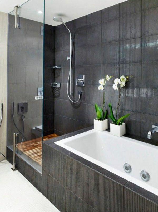 Moderne Badezimmer Mit Dusche Und 2 Interessant On In Badgestaltung Einer Badewanne Wand Aus Glas 9