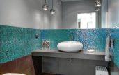 Moderne Badezimmer Türkis