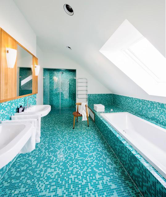 Moderne Badezimmer Türkis Einfach On Auf Einfamilienhaus Franken 9
