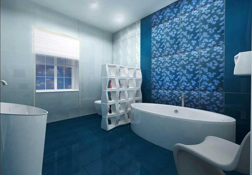 Moderne Badezimmer Türkis Stilvoll On Mit Ideen Fliesen In Keramikfliesen Floral Motiv 8