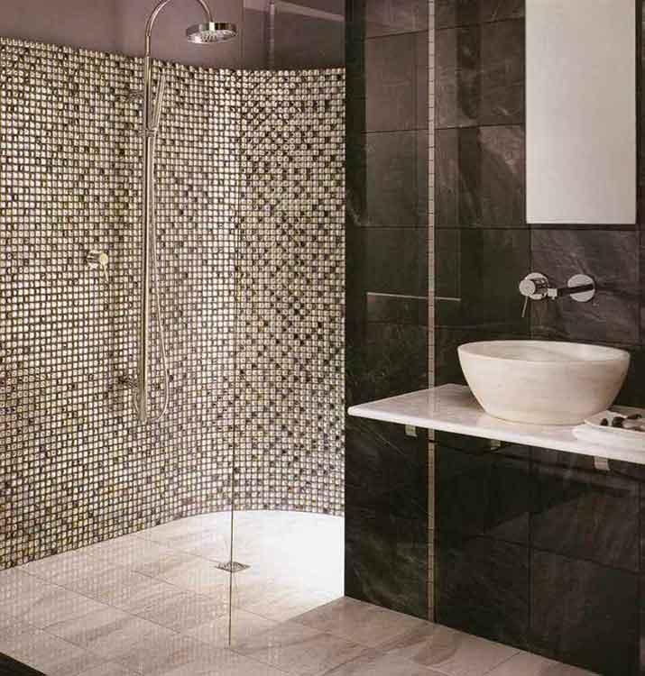 Moderne Duschen Mit Mosaik Einzigartig On Modern überall Schmuck Badezimmer Fliesen Dusche Glasmosaik Glas 2