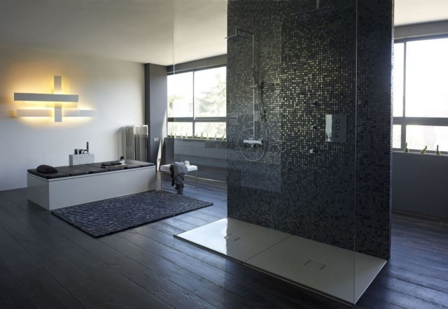 Moderne Duschen Mit Mosaik Nett On Modern In Bezug Auf Grafffit Com 3