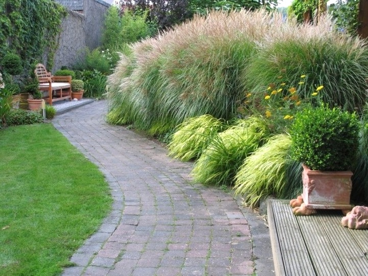 Moderne Gartengestaltung Mit Gräsern Stilvoll On Modern Und Steinen Schön Auf Deko 9