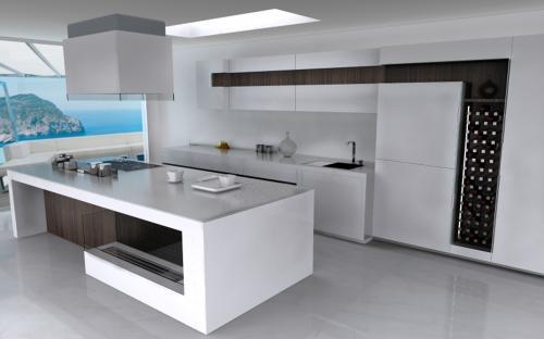 Moderne Küche Mit Insel Perfekt On Modern Auf Kuche Kochinsel Erfreulich Moderner Kche 9