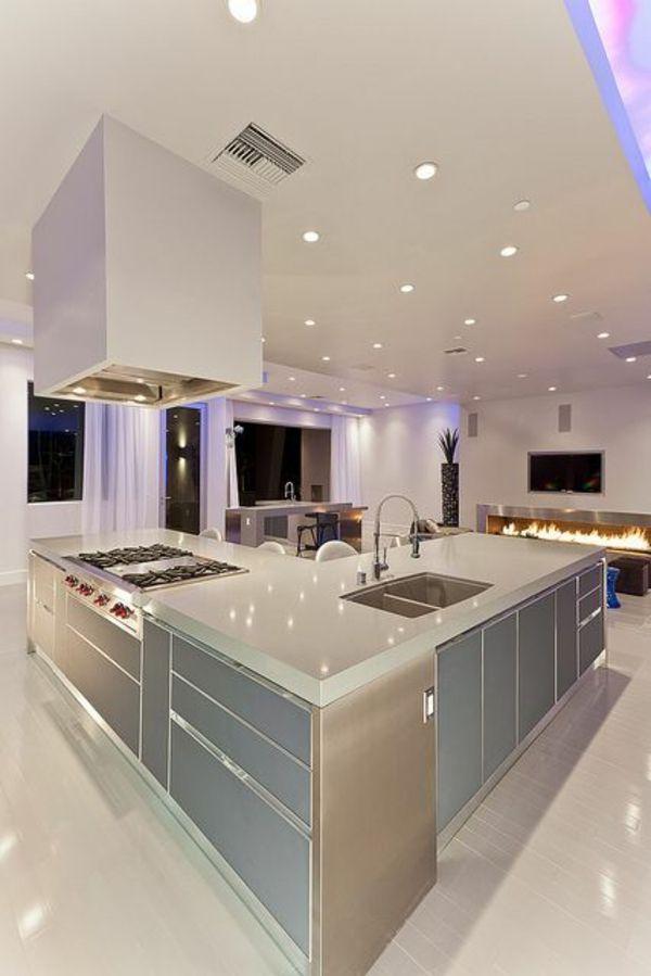 Moderne Küche Mit Insel Perfekt On Modern In Küchen Kochinsel Küchenblock Freistehend Beleuchtung 8