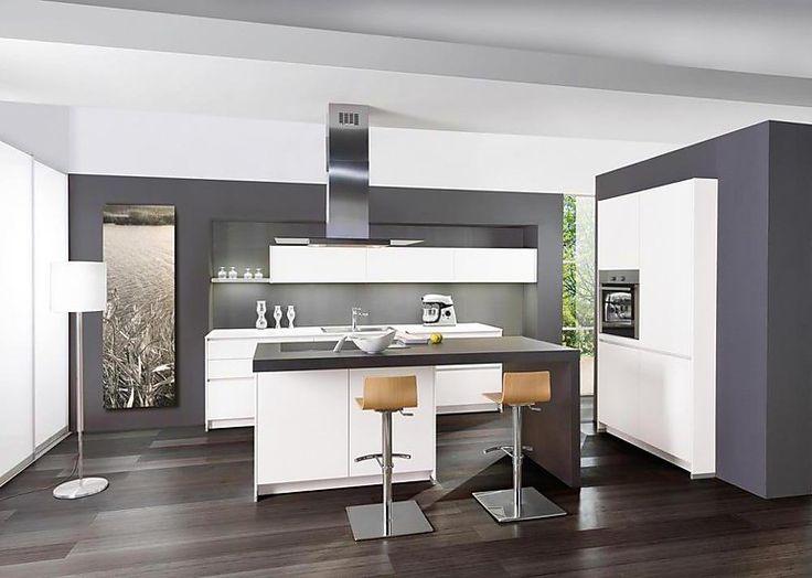 Moderne Küche Mit Insel Schön On Modern Innerhalb Nach Hinten Kleiner Die Besten 20 5