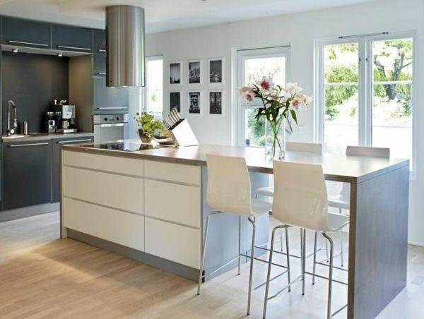 Moderne Küche Mit Kochinsel Und Theke Beeindruckend On Modern Die Besten 25 Ideen Auf Pinterest L Küchen 6