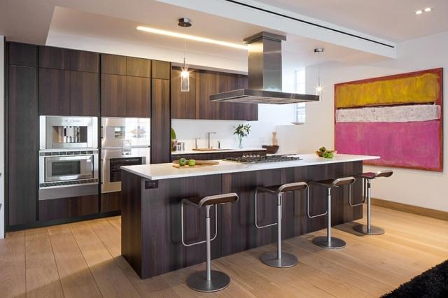 Moderne Küche Mit Kochinsel Und Theke Beeindruckend On Modern In Bezug Auf Küchen Kochkor Info 2