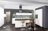 Moderne Küche Mit Kochinsel Und Theke