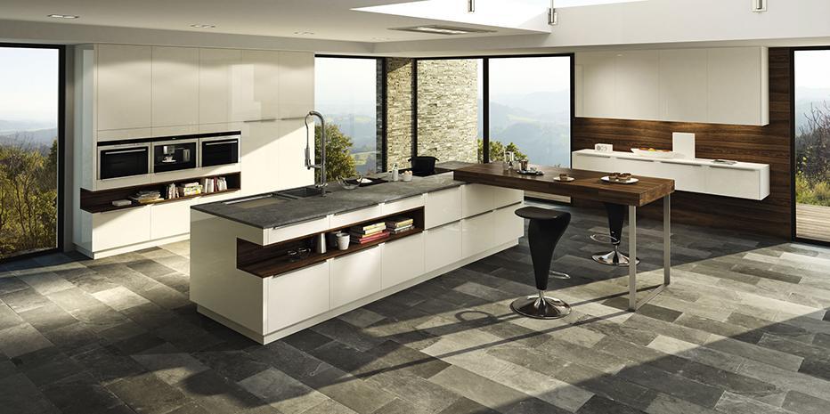 Moderne Küche Mit Kochinsel Und Theke Perfekt On Modern Auf Par Excellence Küchen 3