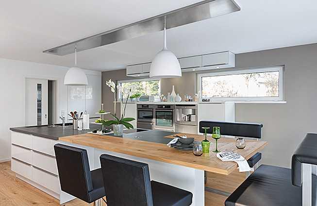 Moderne Küche Mit Kochinsel Und Theke Stilvoll On Modern Ttci Info 4