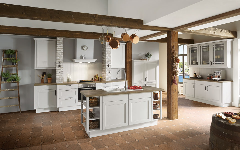 Moderne Landhausküche Mit Kochinsel Bemerkenswert On Modern Beabsichtigt Kücheninsel Inselküche Günstig Kaufen Küche Co 3