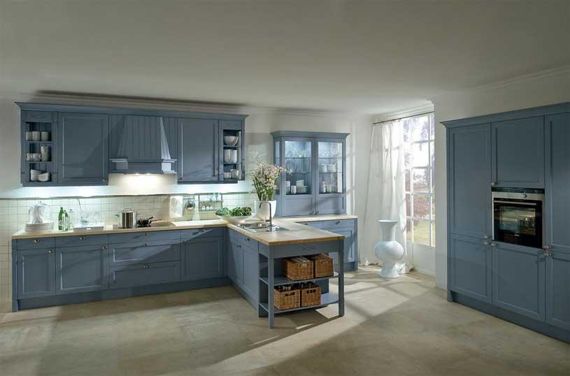 Moderne Landhausküchen Blau Bescheiden On Modern Mit Amocasio Com 6