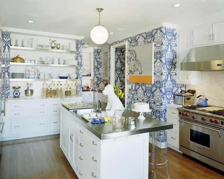 Moderne Landhausküchen Blau Modern On Beabsichtigt Die Populärste Art Im Küche Dekorieren 7