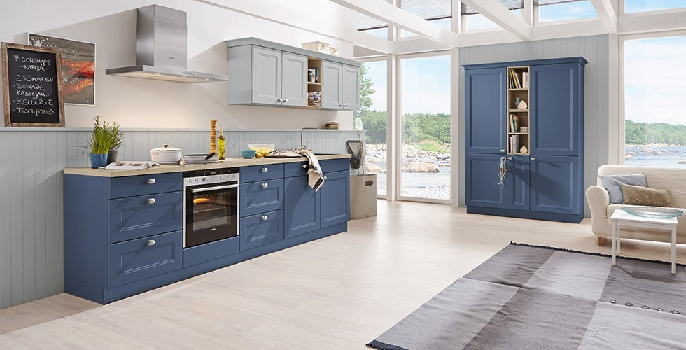 Moderne Landhausküchen Blau Zeitgenössisch On Modern In Bezug Auf Finden Sie Hier 9