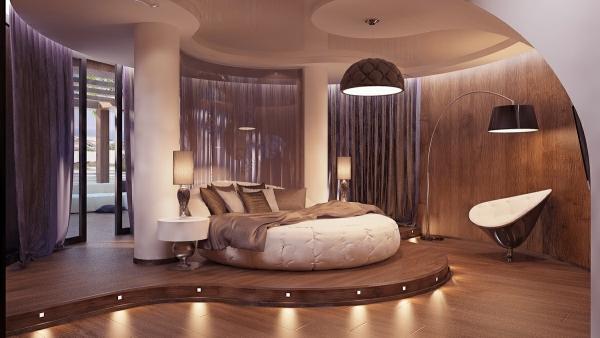 Moderne Luxus Schlafzimmer Unglaublich On Modern Beabsichtigt Farben Braun Vermittelt 1