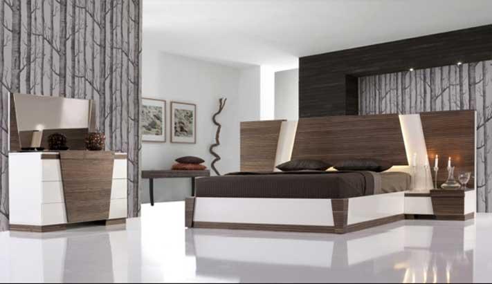 Moderne Perfekt On Modern Innerhalb Mit Holzbetten Nachttisch 7