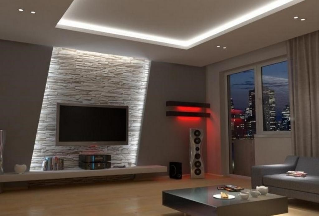 Moderne Wandgestaltung Modern On In Bezug Auf Wohnzimmer 7