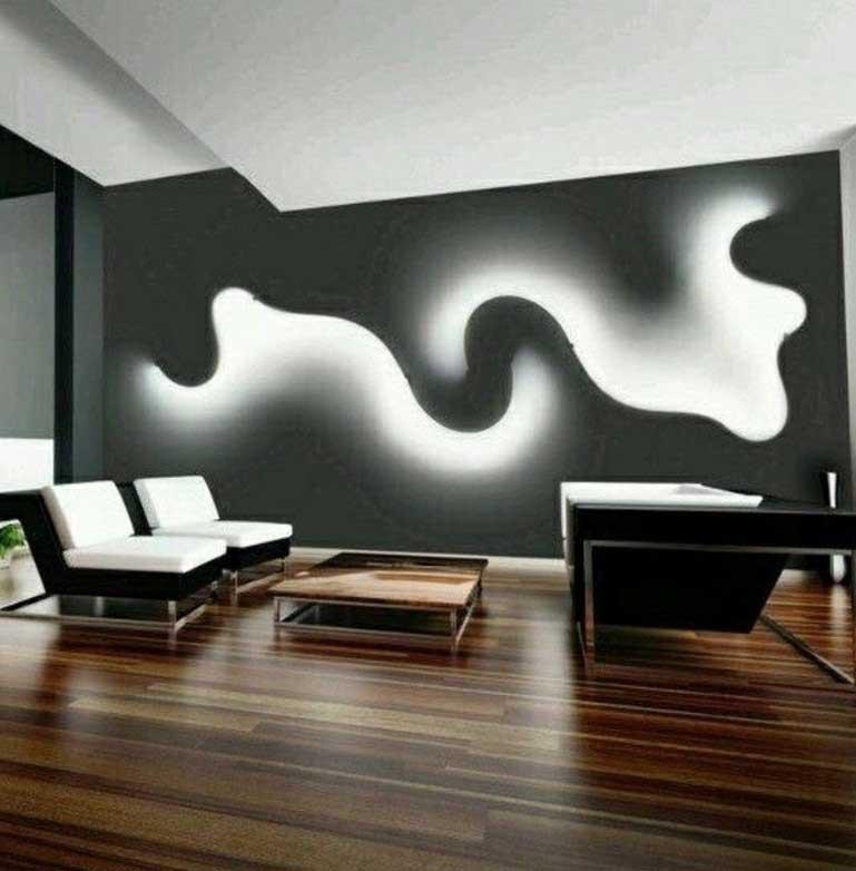 Moderne Wandgestaltung Schön On Modern Beabsichtigt Kreative Wohnideen Für Und Farbgestaltung 4