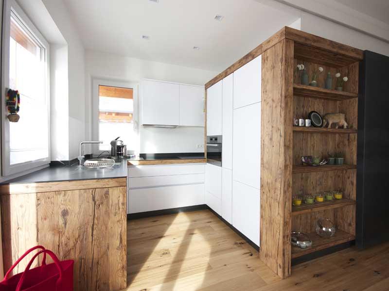 Moderne Wohnküche Weiss Mit Holz Bemerkenswert On Modern überall Küchen Weiß Ambiznes Com 9