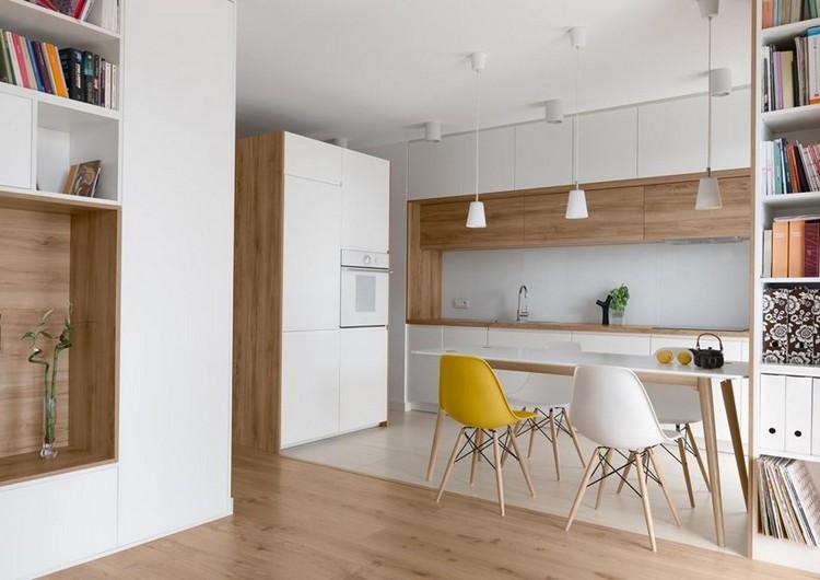 Moderne Wohnküche Weiss Mit Holz Herrlich On Modern Innerhalb 41 Küchen In Eiche Helles Liegt Im Trend 3