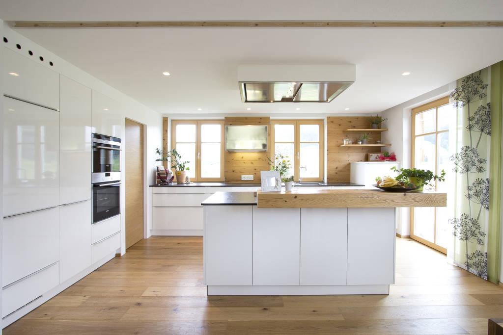 Moderne Wohnküche Weiss Mit Holz Nett On Modern Innerhalb Wohnideen Interior Design Bilder Kitchens 6