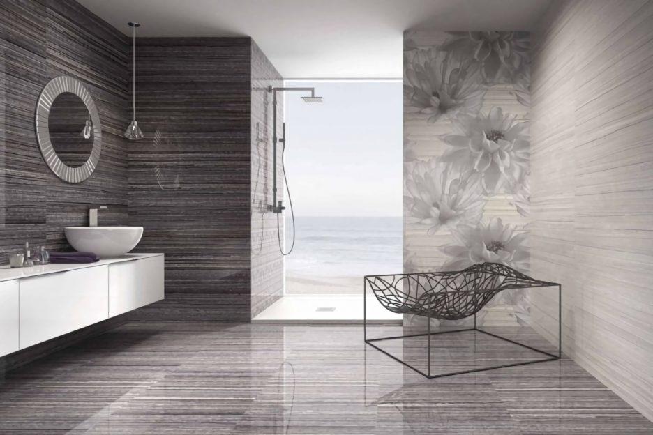 Modernes Badezimmer Grau Ausgezeichnet On Für Ideen Geräumiges Stunning Wandfarbe 7